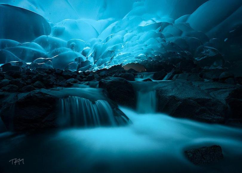 Cuedas de hielo Mendenhall, Juneau, Alaska